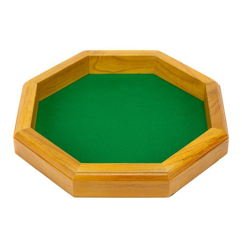 12-inch Felt-Lined Wooden Dice Trays by Wiz Dice -