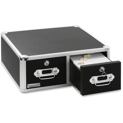 IDEVZ01397 UNITED STATIONERS (OP) LOCKING INDEX CARD 300 CAP 8X5 2 DRWR BLA 1/EA