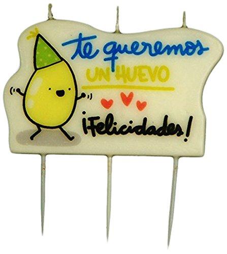 Be Cuki Huevo Vela de Cumpleaños, Cera, 8x3x8 cm: Amazon.es ...