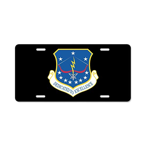 U.S. Air Force 115th Fighter Wing Customized Black License Plate Frame for Men/Women, Aluminum Metal Car Tag Frame Funny Humor for US Standard ()
