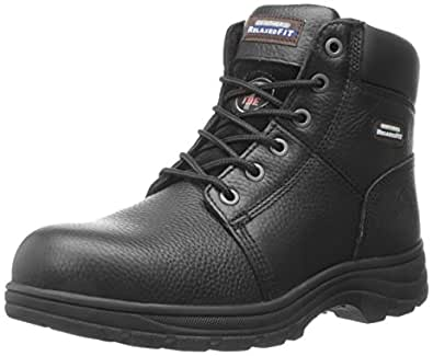 Skechers For Work Men's Workshire Relaxed Fit Work Steel Toe Boot,Black,7 W US