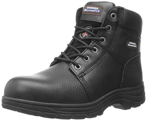 Skechers for Work Men's Workshire Relaxed Fit Work Steel Toe Boot,Black,10.5 W US