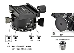 FOTOMATE ® 360 degree Panoramic Tripod Head Gimbal Bracket Kit Fit For Canon Nikon and Other DSLR Cameras
