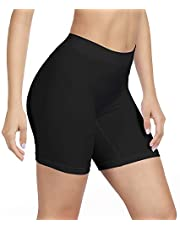 SIHOHAN Womens Slip Shorts Comfortable Short Pants Ultra Soft Seamless Long Briefs for Under Dresses Leggings and Yoga Sports
