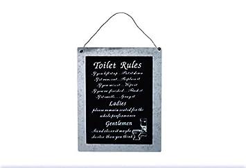 WC Rules Wandschild Für Bad/Badezimmer/Toilette/Badezimmer U2013 24 Cm