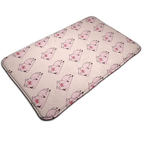Alan Doormat Pig Bath Mat Non Slip Rug Bathroom Bedroom Entrance Carpet 19.5