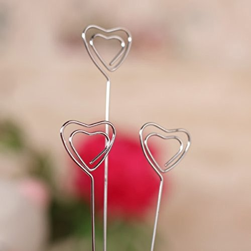 Dproptel Upgraded Heart-Based 4 Wire Clasps Card Holder Memo Clips Tree For Note Clip Shop Price Tag Photo Display Wedding Table Name Home Decoration - Pack of 2 by Dproptel (Image #4)