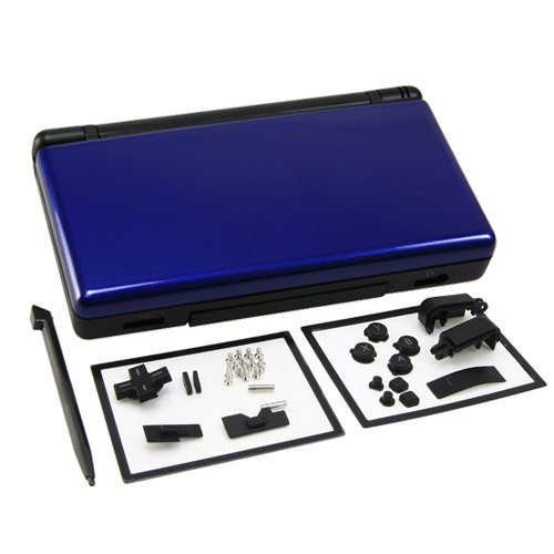 OSTENT Full Repair Parts Replacement Housing Shell Case Kit Compatible for Nintendo DS Lite NDSL Color Blue and (Nintendo Ds Replacement Parts)