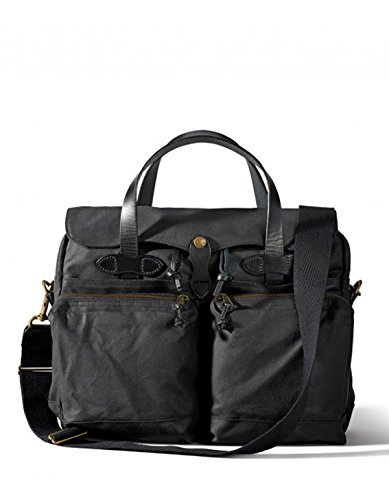 Filson 24 Hour Tin Cloth Briefcase - Black - Filson Laptop Bag