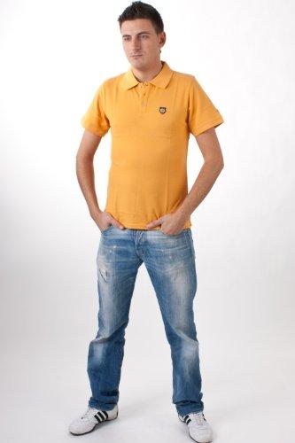 Onitsuka Tiger by asics Herren kurzarm Poloshirt Deep Yellow