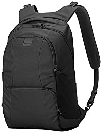 """Metrosafe LS450 25 Liter Anti Theft Laptop Backpack - with Padded 15"""" Laptop Sleeve, Adjustable Shoulder Straps, Patented Security Technology"""