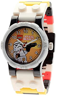 LEGO Star Wars Stormtrooper Kids Buildable Watch with Link Bracelet and Minifigure