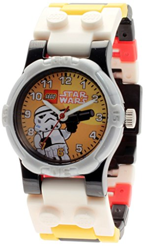 LEGO Star Wars Stormtrooper Kids Buildable Watch with Link Bracelet and Minifigure (Star Wars Boys)