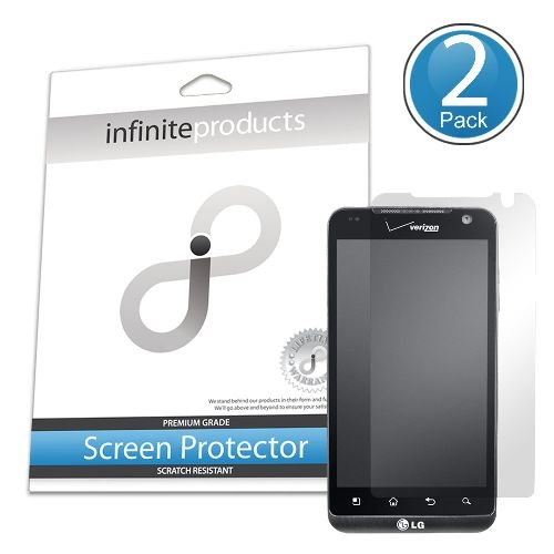 Infinite Products VectorGuard Screen Protection Film for LG REVOlution - 2 Pack - Retail Packaging - Clear