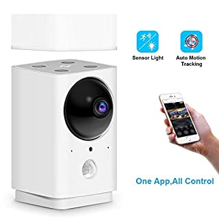 1080P Home Security Camera, FUVISION Pan/Tilt/Zoom Wi-Fi Indoor Smart Surveillance Camera with Motion Tracking,Night Vision,Sensor Lamp,2-Way Audio,Cloud Storage and SD Card, Compatible with Alexa