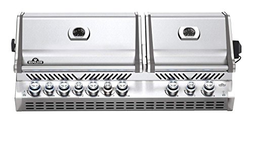 Napoleon BIPRO825RBINSS-3 Rear Burner, Stainless Steel Built-in Prestige PRO 825 Natural Gas Grill Head with Infrared ()
