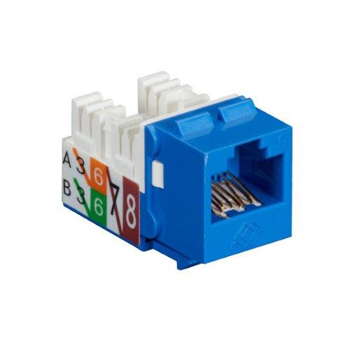 (Black Box GigaTrue2 CAT6 Jacks, Universal Wiring, Component Level, 25-Pack, Blue)
