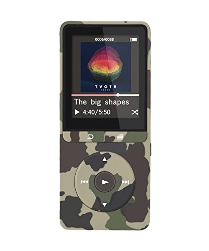 AGPtEK [2017 UPGRADE] A20 8GB & 80 Hours Playback MP3 Player Lossless Sound Music Player with Independent Lock & Volume Control(Supports up to 64GB), Camo Green
