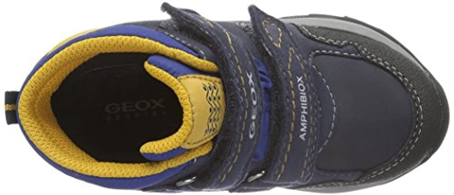 Geox J ORIZONT BOY ABX A, Boys' High Sneakers, Blue (NAVY/YELLOWC0657), 7 Child UK (24 EU)