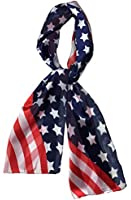 Patriotic USA Flag American Flag Star Scarf By Crown