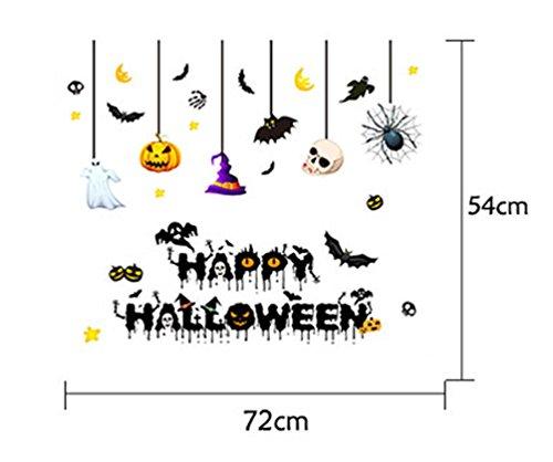 CN'Dragon Halloween Creative Wall Stickers Glass Window Stickers Wall Decals Shopwindow Paster Bar or Drawing Room Wall Decor (Halloween Window Drawings)