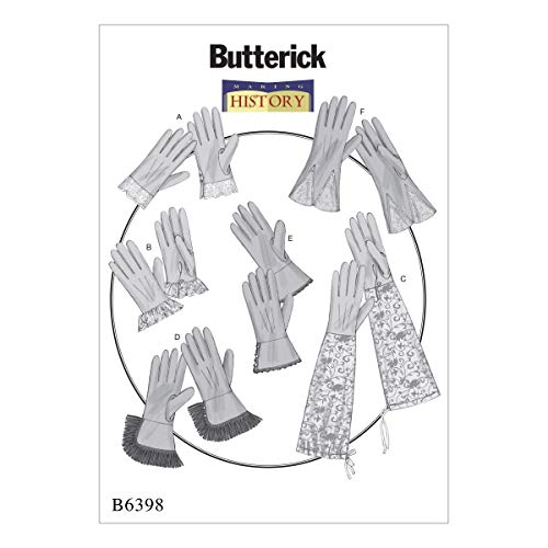Butterick B6398OSZ Women's Historical Gloves Sewing Pattern, -