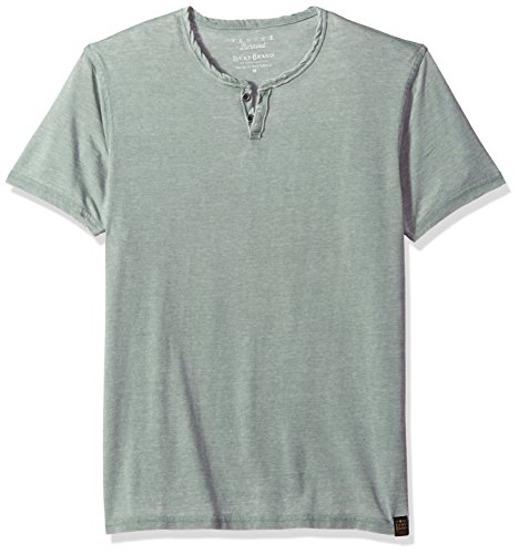 Lucky Brand Men's Burnout Notch Neck Tee, Laurel Wreath, L