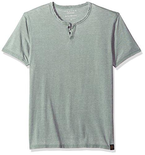 Lucky Brand Men's Burnout Notch Neck Tee, Laurel Wreath, L (Time T-shirt Tonal)
