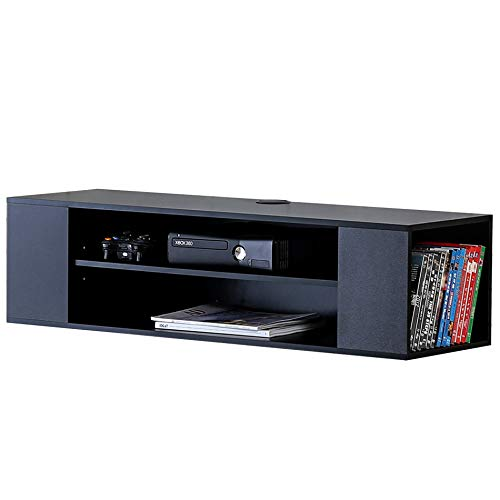 FITUEYES Wall Mounted Audio/Video Black Wood Grain for Xbox one /PS4/ vizio/Sumsung/Sony TV DS210002WB by FITÜEYES