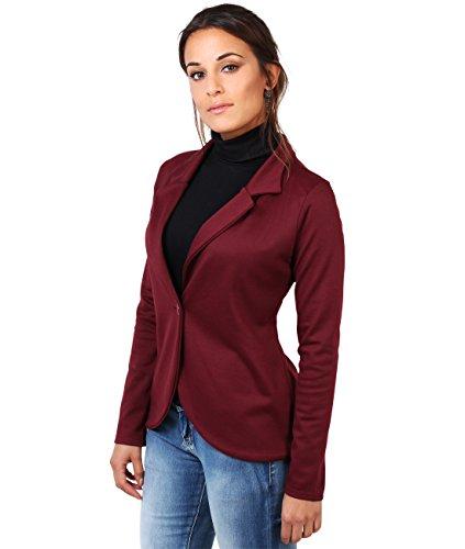 Womens+Casual+Smart+Blazer+Work+Office+Sweat+Jacket