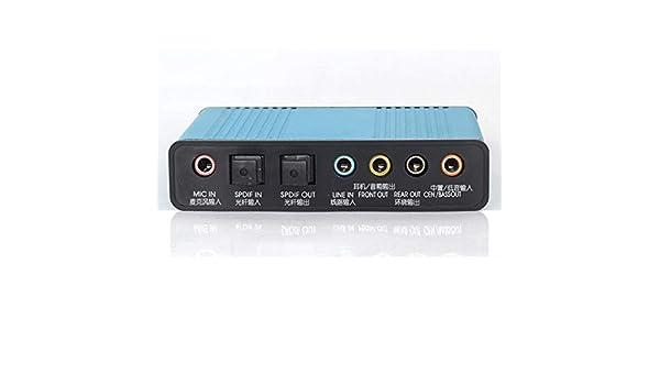 WOSOSYEYO USB Adaptador de Tarjeta de Sonido Externa 6 del Canal ...