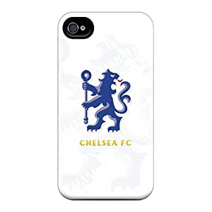 NataliaKrause Iphone 4/4s Shockproof Cell-phone Hard Cover Support Personal Customs Colorful Chelsea Fc Skin [NIj10559qlDW]