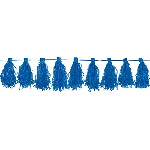 Amscan Paper Tassel Garland, 10', Bright Royal (Witch Paper Tassel Garland)