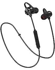 Auricolari Bluetooth, E2 Cuffie Stereo HD, IPX6 In-Ear Sport Cuffie, CVC6.0 Cancellazione del Rumore Microfono, Bluetooth Senza Fili 4.1, per iPhone, Huawei, Samsung ed Altri Smartphone
