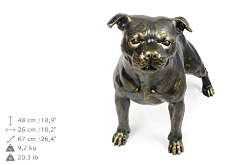 Staffy - Staffordshire Bull Terrier, Dog Natural Size Statue, Statue Limited Edition, Artdog - Bull Terrier Statues