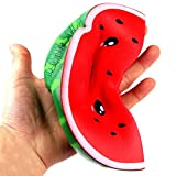 Yalasga Smiley Watermelon Squeeze Toy Squishy Jumbo Slow Rising Decompression Toys Kids Adults