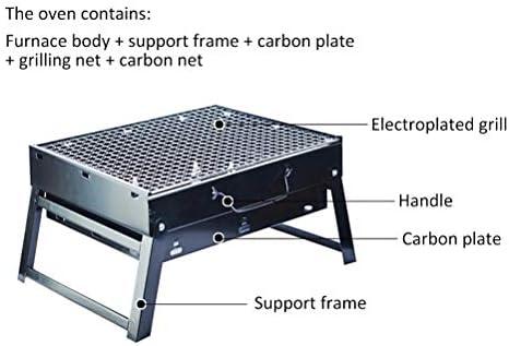 Surenhap Barbecue à charbon de bois pliable pour pique-nique