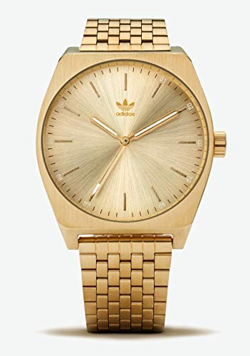 adidas Watches Process_M1. 6 Link Stainless Steel Bracelet, 20mm Width (All Gold. 38 mm). (Watch Adidas Men)