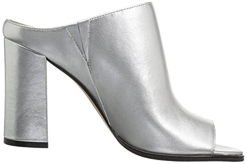 Donna Silver Toe Metallic Heel High Fix The Mule Open Women's BvxR4qp