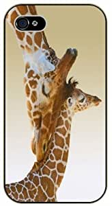Love Giraffe, mom and baby - iPhone 5C black plastic case / Animals and Nature