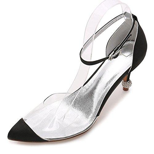 L@YC Tacones de Mujer Summer Wedding Party & Evening Dress Stiletto Casual F17767-21 Black