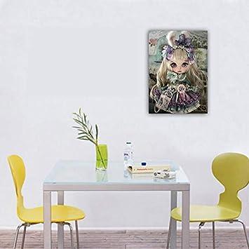 Kit de peinture diamant 5D /à faire soi-m/ême Youliy Peinture de poup/ée /à gros yeux Style sombre Petite fille Pour adultes et enfants 483