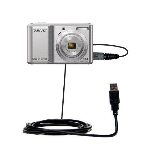 Gomadic classic straight USB data sync cable suitablefor the Sony Cyber-shot DSC-S2000 - Uses TipExchange Technology by Gomadic