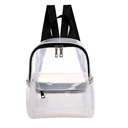 Dial Flight White Chronograph (♛Shiretel Bag IAMUP Student Transparent Backpack Waterproof Bag Girl Fashion Backpack Zipper Bag)