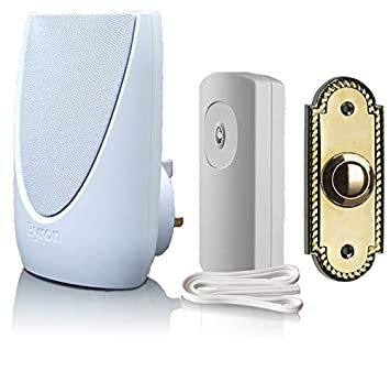 Byron BY32 100m Wired to Wireless Door Bell Push Button Extender Converter