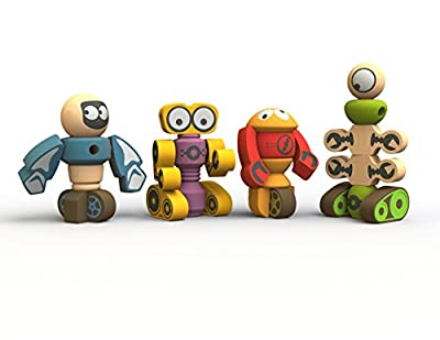 BeginAgain Tinker Totter Robots Build Your Own Robot Kit & Robot Building Game from Begin Again