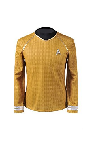 Cosparts Star Trek Into Darkness Yellow Captain Man's Cosplay T-shrit (US Size M) ()