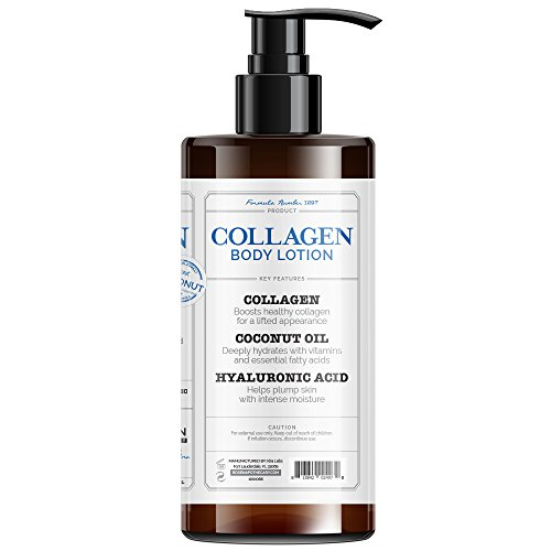 41RtahxdbuL - Rosen Apothecary Firming Collagen Body Lotion with Natural Coconut Oil for Firmness, Elasticity, Hydration, Revealing Tighter Looking Skin, for all Skin Types 32oz / 960ml