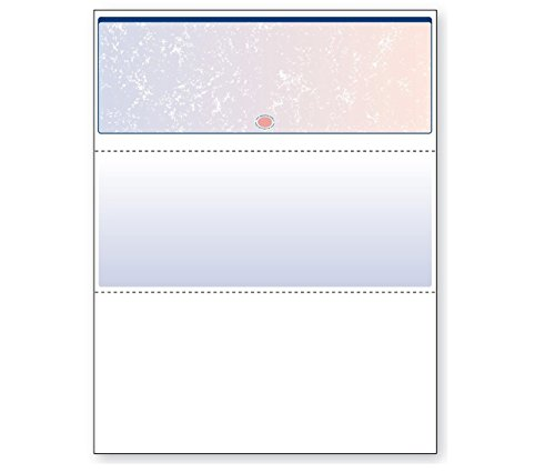 - DocuGard Blue/Red Prismatic Top Check, 8.5 x 11 Inches, 24 lb, 500 Sheets, 1 Check Per Sheet (04532)