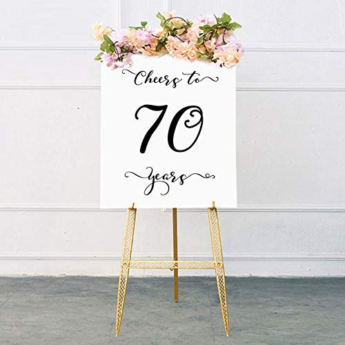 Cheers To 70 Years Sign70th Birthday Decoration For Men 70th Rustic Party Decorations Anniversary Signs 8x10 Inches No